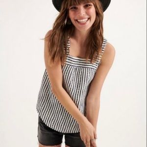 Lucky Brand | Square Neck Striped Tank | Sz S